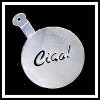 Трафарет маленький диаметр 7,4 см Ciga!, фото 1