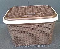 Корзина для белья коричневая, 20 л, производитель Турция