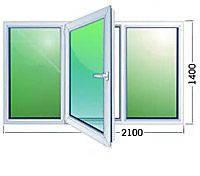 Металлопластиковые окна wds трехстворчатое
