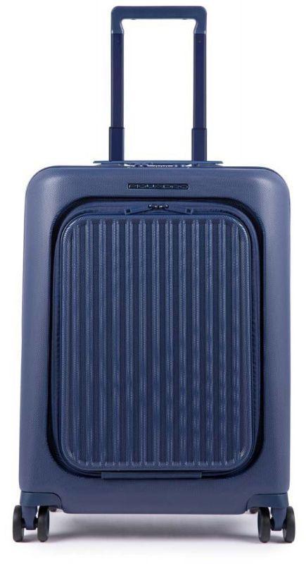 Чемодан малый пластиковый Piquadro Seeker Bv4426SK_BLU 35 л, синий
