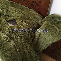 Покрывало травка   Пушистый махровый плед. Koloco (колоко)- с длинным ворсом. Размер 160х210 см. Цвет Зеленый