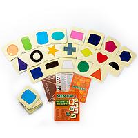 ФИГУРЫ И ЦВЕТА - Развивающая настольная игра для детей от 1 года