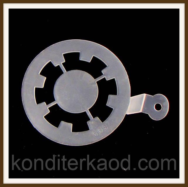 Трафарет маленький диаметр 7,4 см Узор