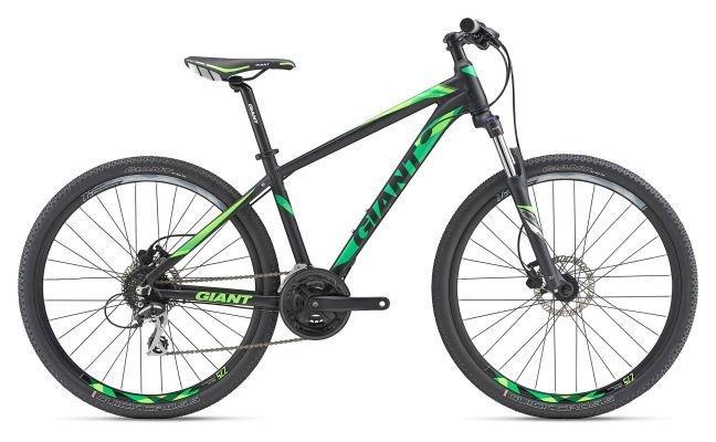 Горный велосипед Giant Rincon Disc, черно-зеленый L (GT)