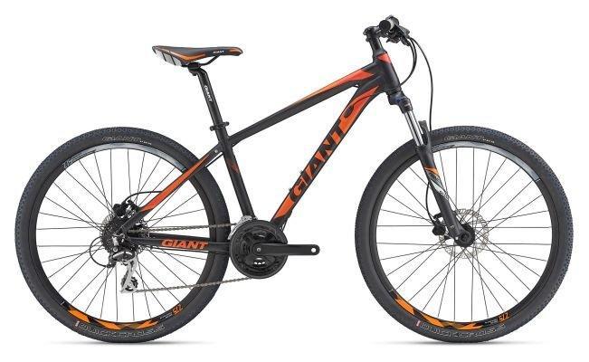 Горный велосипед Giant Rincon Disc 27.5, черно-оранжевый M (GT)