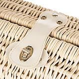 Корзина для пикника на 2 персоны + сумка-холодильник (021PPN), фото 4