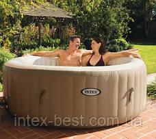 Intex 28404 - бассейн джакузи надувной PureSpa Bubble Therapy+Hard Water System (145/196x71 см), фото 2