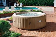 Intex 28404 - бассейн джакузи надувной PureSpa Bubble Therapy+Hard Water System (145/196x71 см), фото 3
