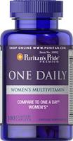 Мультивитаминный комплекс для женщин One Daily Puritan's Pride(100 таб.)