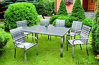 Садові меблі. Стіл + 6 крісел, фото 1