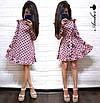 Платье в горошек с рюшами на плечах, фото 4