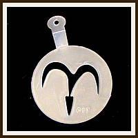 Трафарет маленький диаметр 7,4 см Овен, фото 1