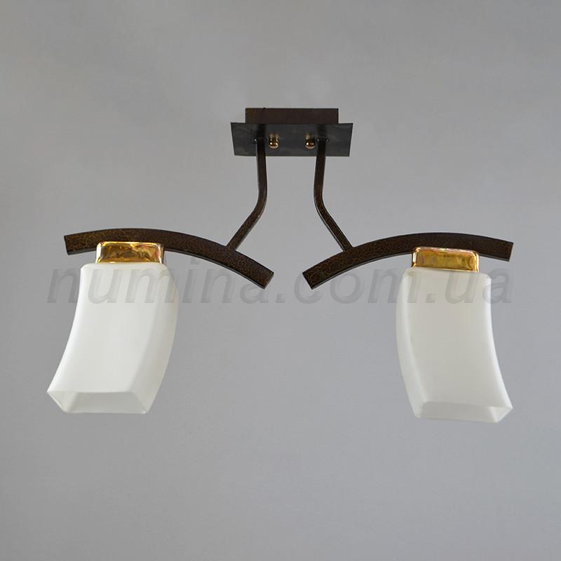 Люстра потолочная на две лампы 06-33921/2 FGD+BKD+BR