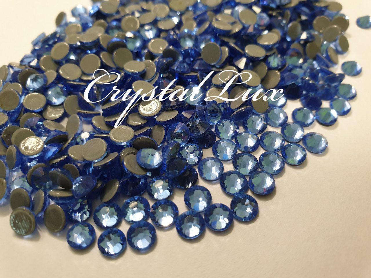 "Термо-стразы ss16 Lt.Sapphire, 100шт, (3,8-4,0мм) ""Premium Crystal"""