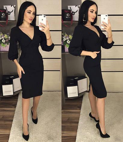 Платье назапах, №107, чёрное., фото 2