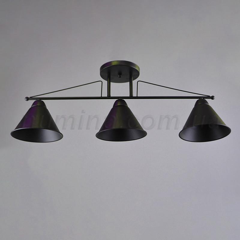 Люстра потолочная на три лампы 14-1116/3BK