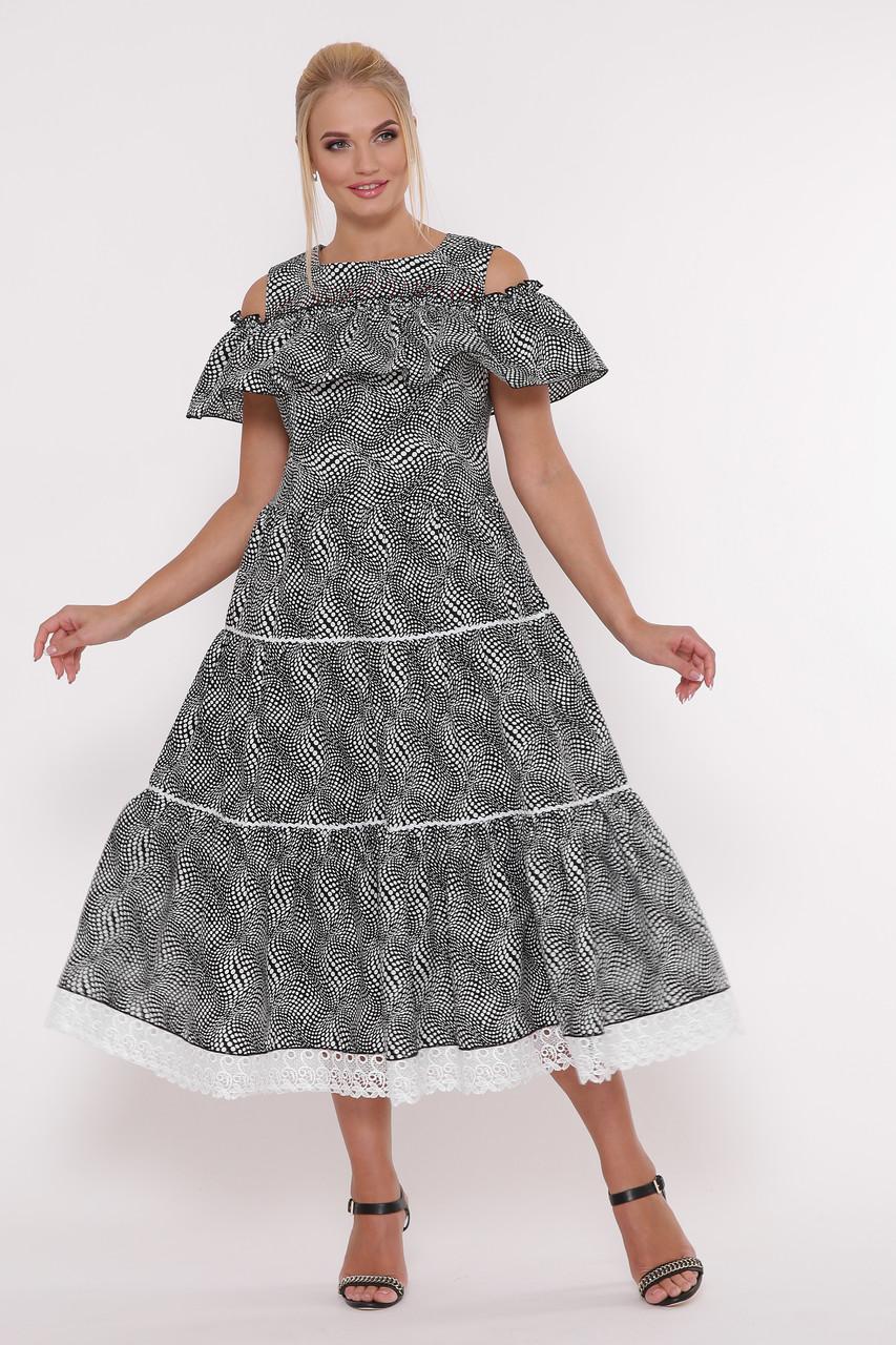 Нарядное платье Таяна горох