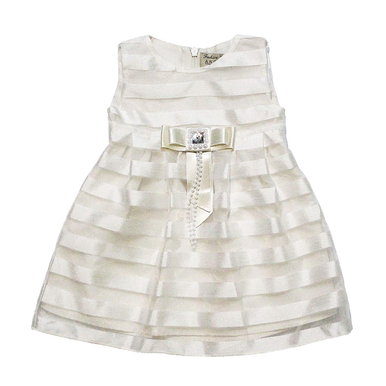 Дизайнерское детское платье для крещения Andriana Kids 56-62 размер