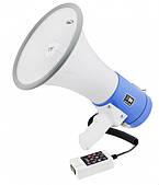Мегафон рупор громкоговоритель (рупор) Megaphone UKC 50Ватт ER-66U White/Blue
