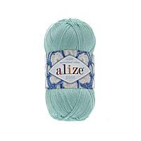 Пряжа Alize Miss 15 светло-зеленый (Ализе Мисс) 100% хлопок
