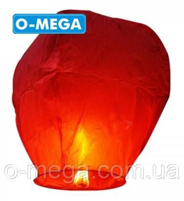 Небесные фонарики желаний купол красный большой 105см