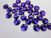 Стразы пришивные Lux Круги 14мм. Purple Velvet