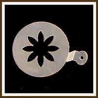 Трафарет маленький диаметр 7,4 см Цветок, фото 1