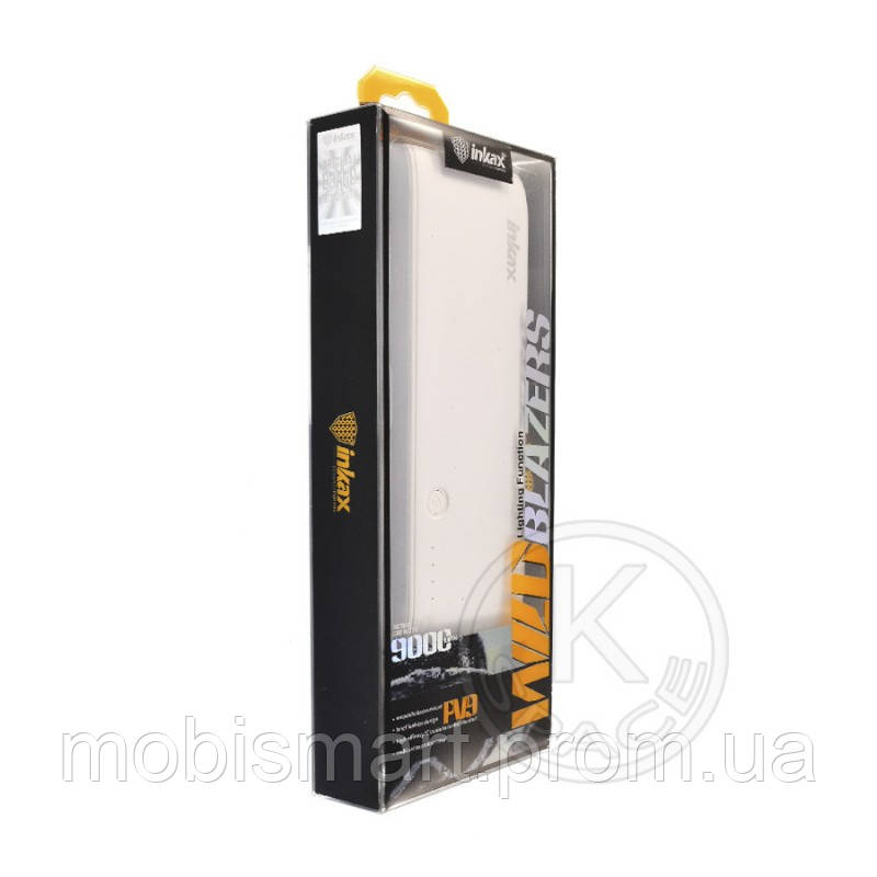 Power Bank Inkax PV-09 (9000 mAh) white