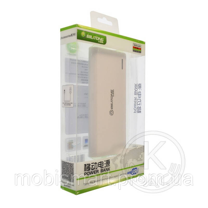 Power Bank Bilitong YO-58 (5600mAh) white-pink