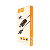 Кабель USB-m Hoco U29 LED Timer Micro (1000mm) white, фото 1