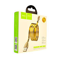 Кабель USB-L Hoco U52 Bright Lightning (1200mm) gold