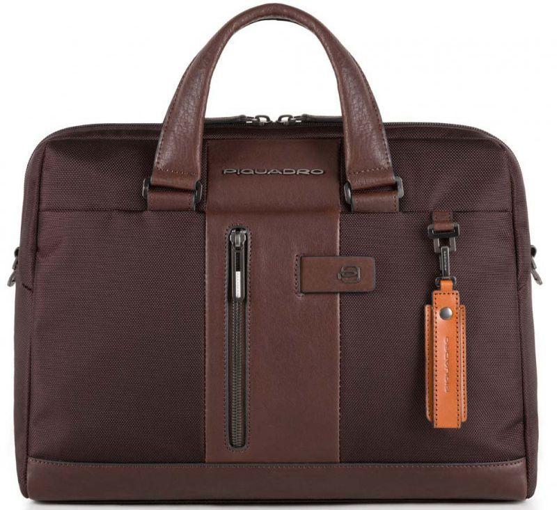 Мужской портфель кожаный Piquadro BRIEF CA4440BR_TM, коричневый