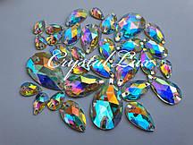 Стрази Lux Крапля 7*12мм. Crystal AB