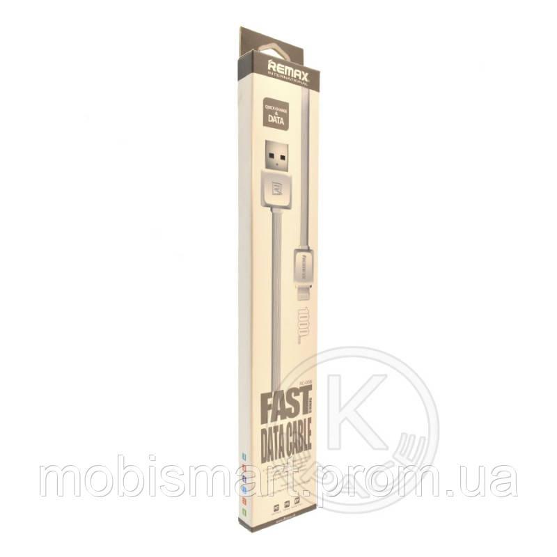 Кабель USB-L Remax RC-008i Fast Lightning 1m white (copy)