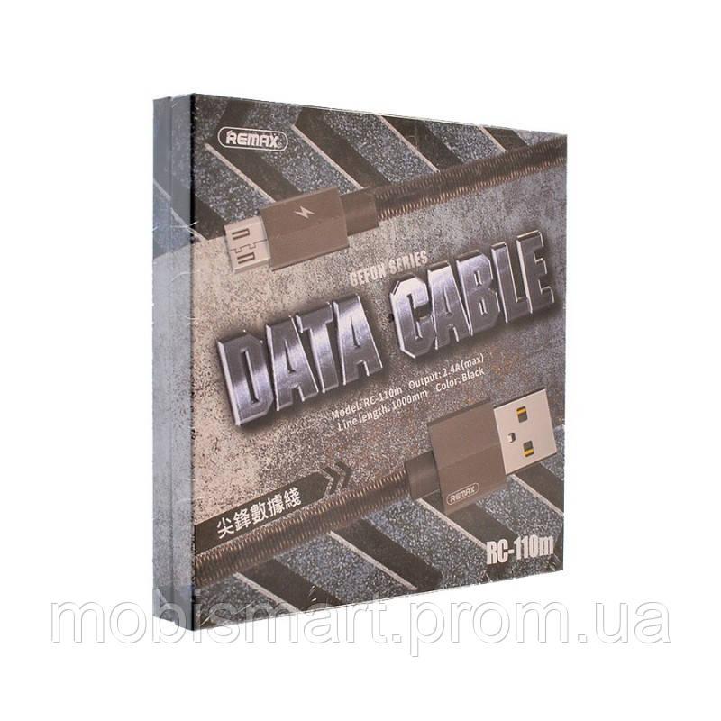Кабель USB-m Remax RC-110m Gefon Micro 1m black (original)