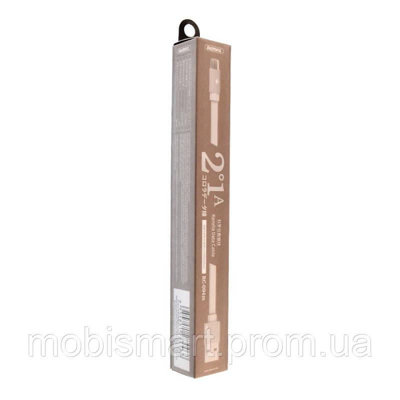 Кабель USB-m Remax RC-094m Kerolla Micro 2m white (original)