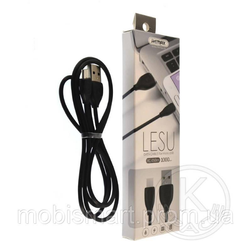 Кабель USB-m Remax RC-050m Lesu Micro 1m black (original)
