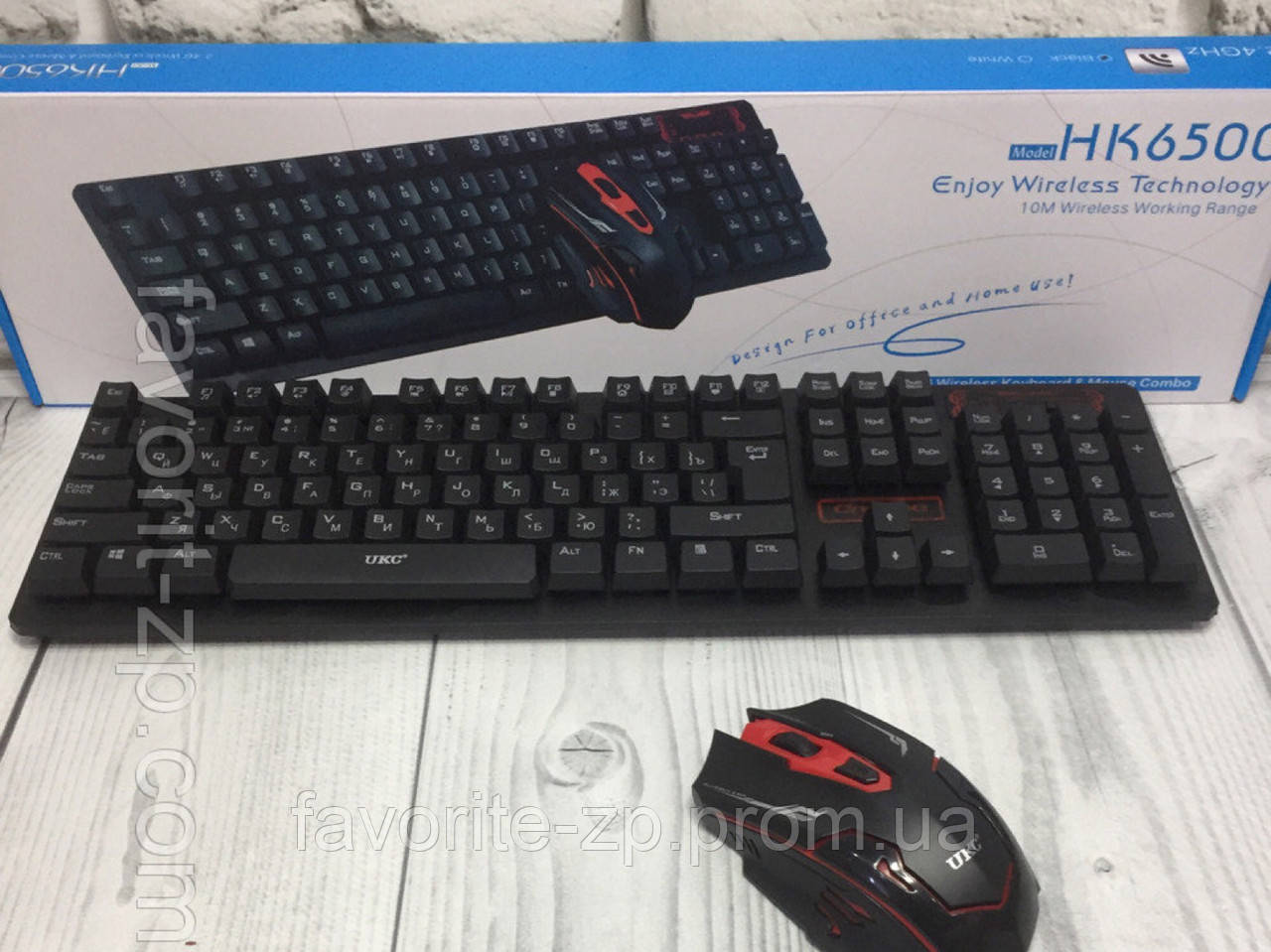 Беспроводная игровая клавиатура и мышь для компьютера UKC HK-6500