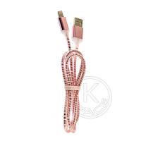 Кабель USB-L CP-2 Lightning (силиконовый с подсветкой) pink