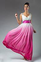"""Длинное вечернее шифоновое платье """"Aphrodite"""" с поясом и камнями (5 цветов)"""