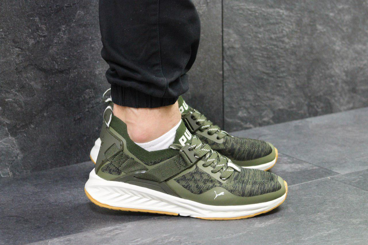 premium selection 8d638 883a8 Мужские кроссовки в стиле Puma Ignite Evoknit Green, зеленые