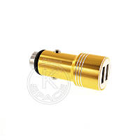 АЗУ 2USB 1.0A YZS-A-08 metal gold