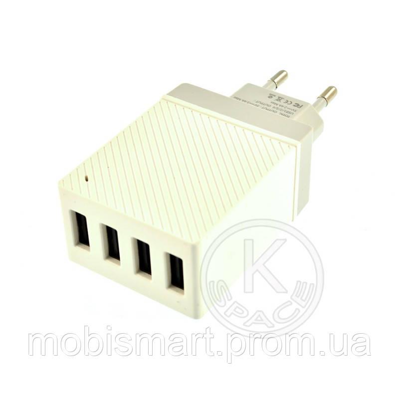 СЗУ 4USB Hoco C23B (5V-2.4 mAh) white