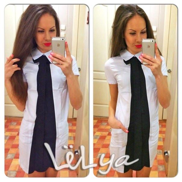Платье с галстуком 2-х видов