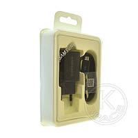 СЗУ USB Samsung Fast Charging (5V-2A) EP-TA600 original box 2in1 black