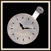 Трафарет маленький диаметр 7,4 см Часы, фото 1
