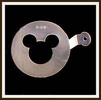 Трафарет маленький диаметр 7,4 см Микки Маус, фото 1