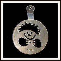 Трафарет маленький диаметр 7,4 см Клоун, фото 1