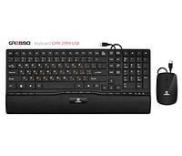 Комплект (клавиатура+мышь) Gresso GMK-2999 USB Black Multimedia
