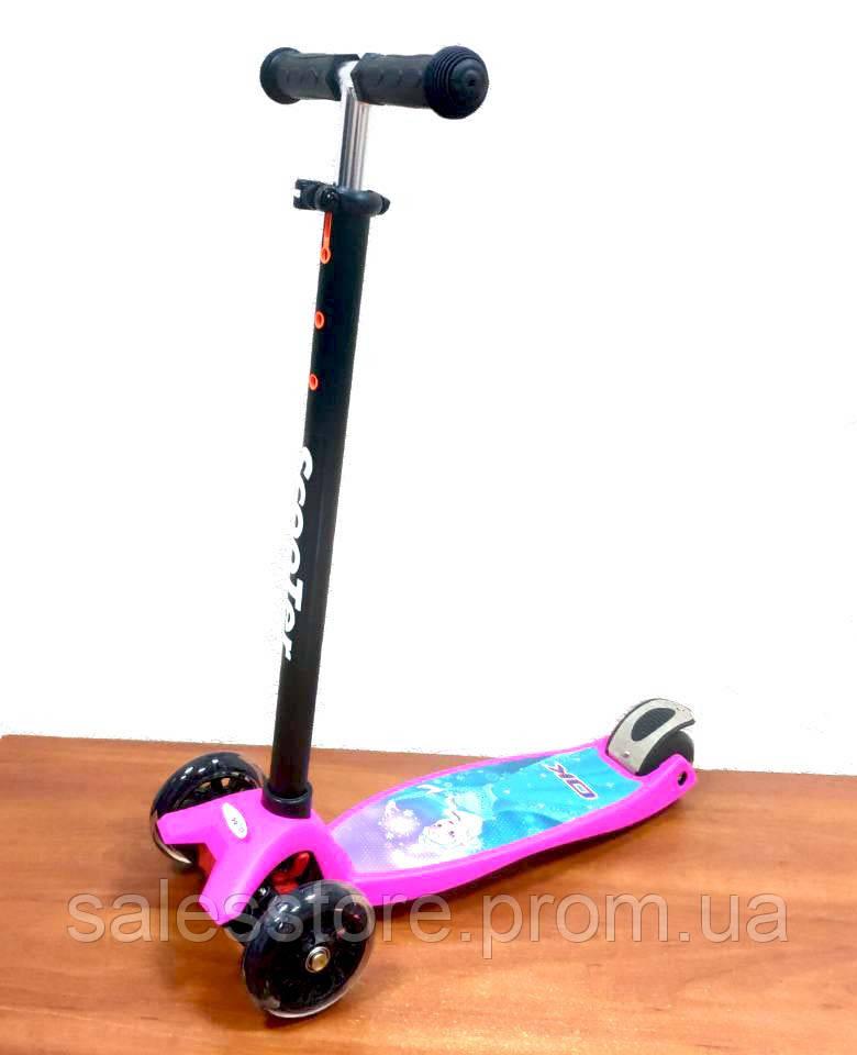 Самокат Детский Scooter OK MINI BEST 0072R кикборд Frozen (Холодное сердце)